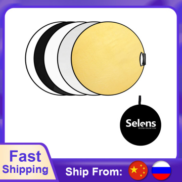 Selens 60cm 5 in 1 reflector photography Collapsible light reflector photo Reflector for Studio photo studio accessories