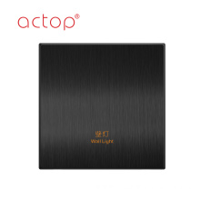 hotel customized metal wall tact touch switch