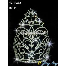 High quality many stars crown rhinestones Pageant Crown