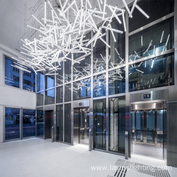 Customized lobby club led chandelier