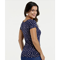 women's deep v neck blouse polka dot blouse