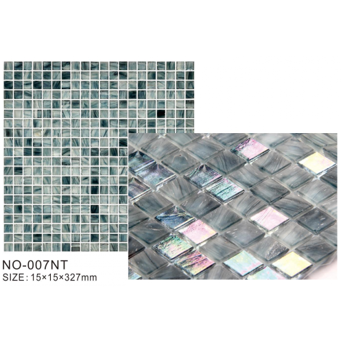 Silver Glowing rainbow Ice Series modern Mosaic Tiles