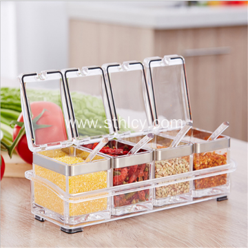 Acrylic Seasoning Box Kitchen Supplies