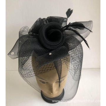 NEW-Women's Horsehair Church Fascinators Hats --YJ81