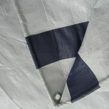 standard White Poly Tarps with 6 Bands