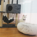 Luksus Velvet Fur Donut Cat and Dog Bed