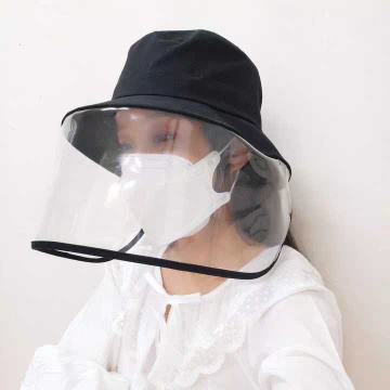 Prevent droplets faceshield protective mask bucket hat