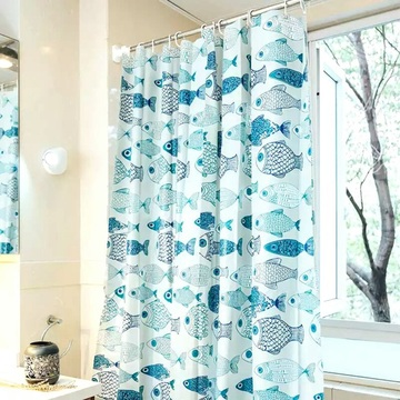 Shower Curtain PEVA  Classic Fish