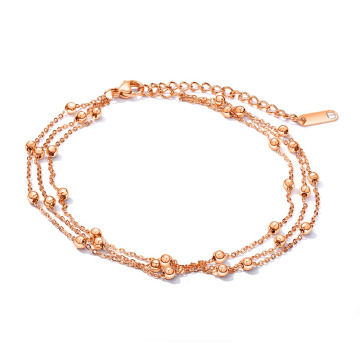 Wholesalae rose gold chain anklets for women