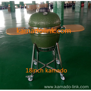 18inch green color egg shape bbq grill