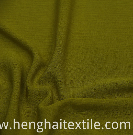 yellow rayon cotton viscose weft crepe