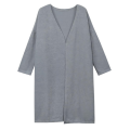 Grey Knitted Long Coat