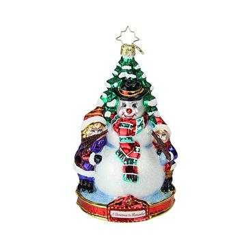 Christmas Tree Shaped Hand Painted Glass Ornaments