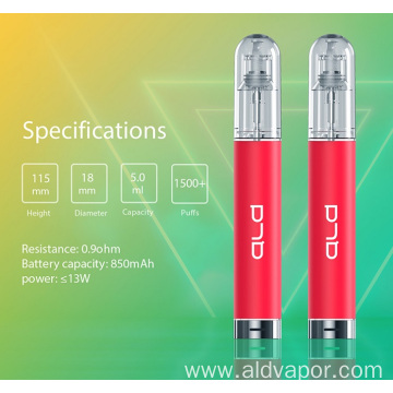 E-Juice 1500 Puffs Vape Device with Greater Sastification