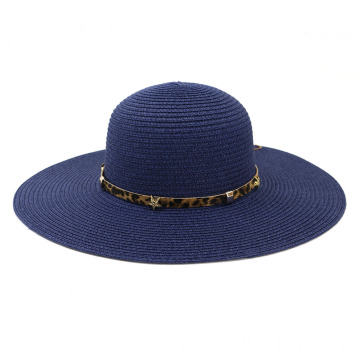 Pain simplify style foldable summer beach straw hat