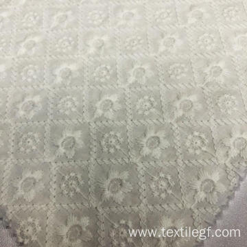 Embrodiery Flower Knitting Fabric