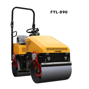 Single Cylinder 4 Stroke 1 Ton Vibratory Compactor Road Roller