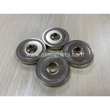 Encased Round Base Magnets