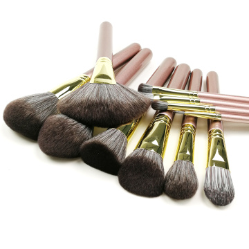 11PC Luxury Copper Makeup Brush Set