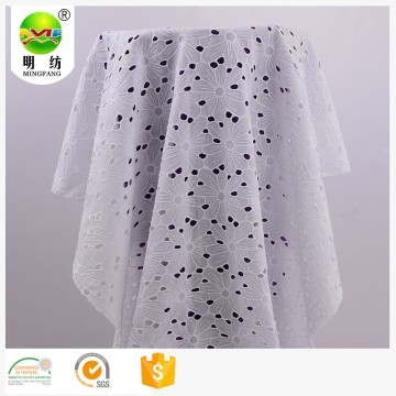 Embroidery cotton eyelet fabric
