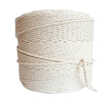 Colourful hot sale 100% natural braided cotton rope