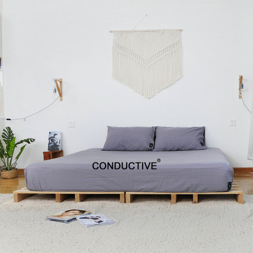 Organic Conductive Fitted Sheet With Earth Grounding Cable