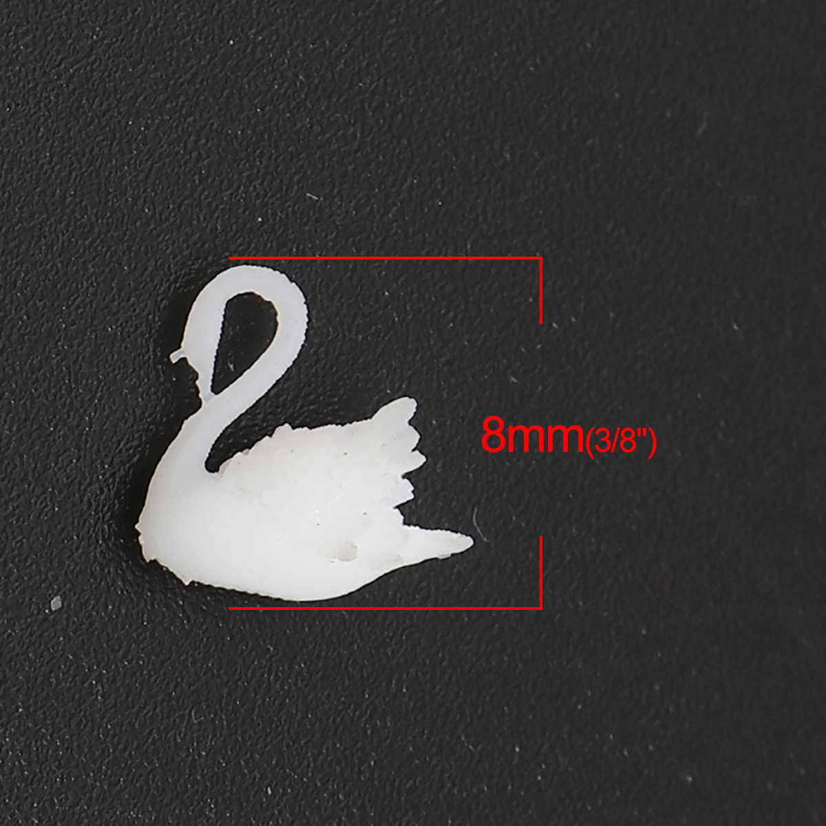 Hot Plastic Resin White Swan Anima Jewelry Craft Filling Materiall Mushroom Creative Earrings Necklace DIY Materials Charms