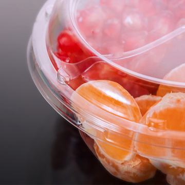 PET Round Clear Transparent Plastic Fruit Food Box