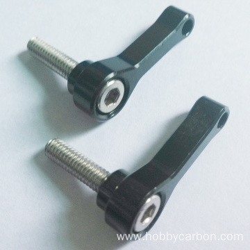 M4 black anodized aluminum thumbscrews