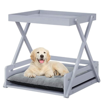 Pet Dog Bed Frame with Removable Cushion