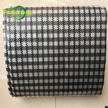 Black transparent square woven fabric film