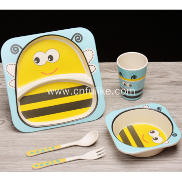 Natural Bamboo Dinnerware for Kids