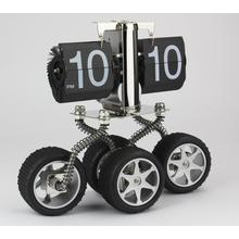Four Wheels  Car Flip Clock