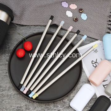 Customized Reusable 304 Stainless Steel Folding Straw