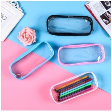 Transparent PVC Waterproof Pencil Case Creative Korean Stationery School Office Supplies Qualities Pouch Simple Style