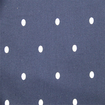 White Dot Cotton With Navy Blue Background