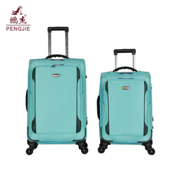 Light green young man trendy nylon airport luggage
