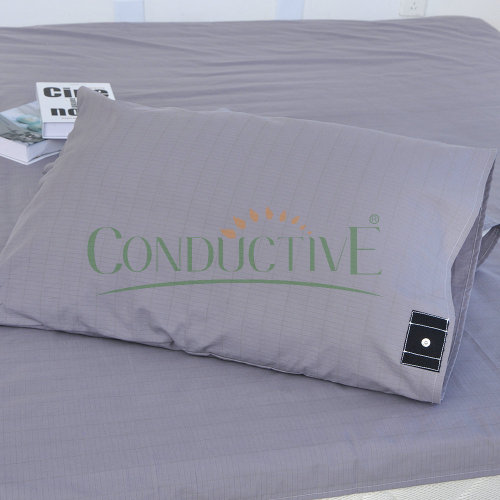 Grey Silver Fabric Antimicrobial Grounding Pillowcase