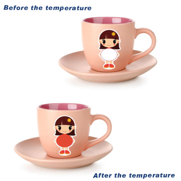 cartoon sticker that can change the temperature