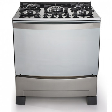Silvery Stove and Gas Oven