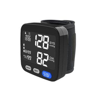 Ọbara ọbara mgbali LCD Display nkwojiaka Automatic Digital Blood Pressure Monitor Cuff Home BP Sphygmomanometers