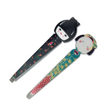 Beauty cartoon eyebrow clip high-quality printed eyebrow clip beauty beauty makeup eyebrow tweezers