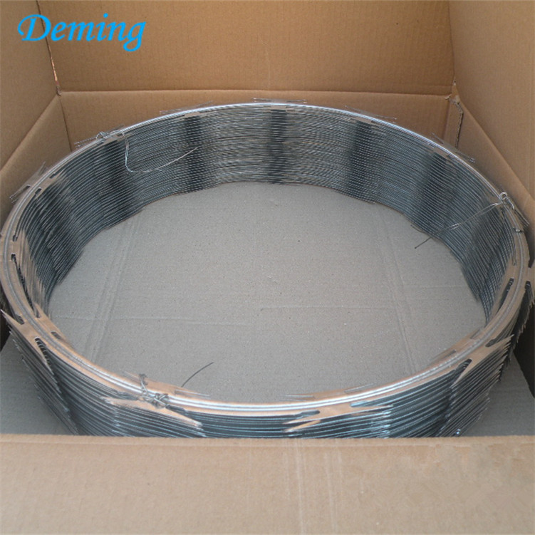 Factory Low Price Galvanized Concertina Razor Barbed Wire