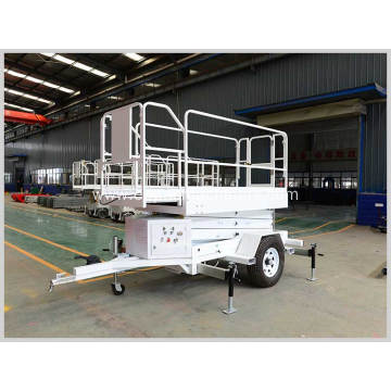 Trailed Portable Mobile Hydraulic Scissor Lift Platform