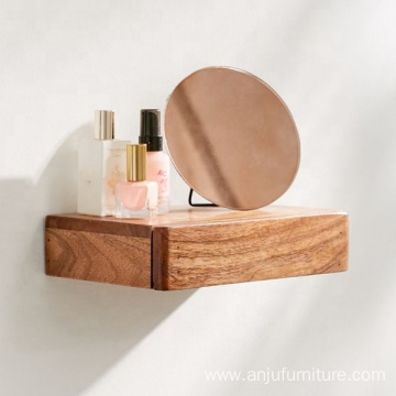 Wooden Wall shelf with Drawers