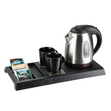 Cheap electric hotel kettle with tray set