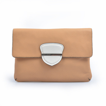 MULBERRY Turnlock Chain Clutch in Refined Leather Bag