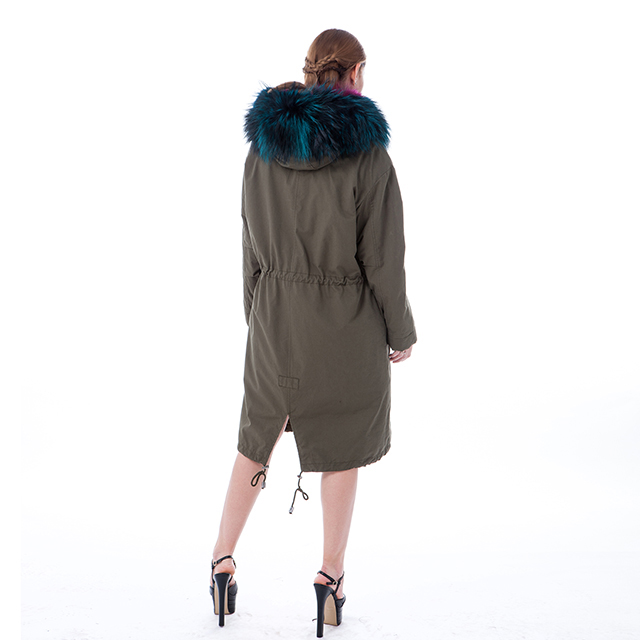 Fashion fur cashmere winter coat