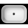 Square pure acrylic matte stone sink for bathroom
