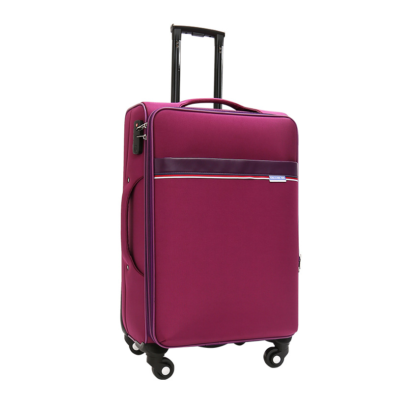 Pink trolley women luggage